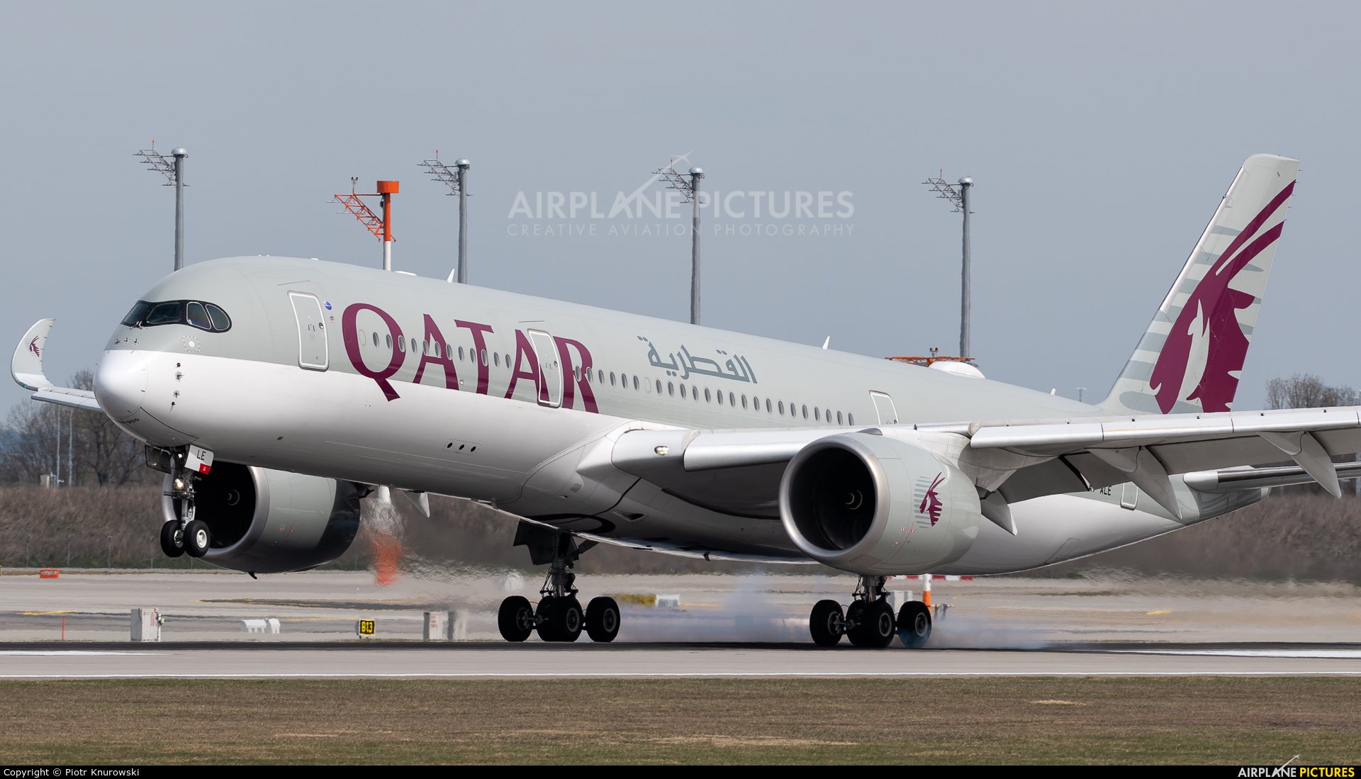 Qatar Airways A7-ALE aircraft at Munich
