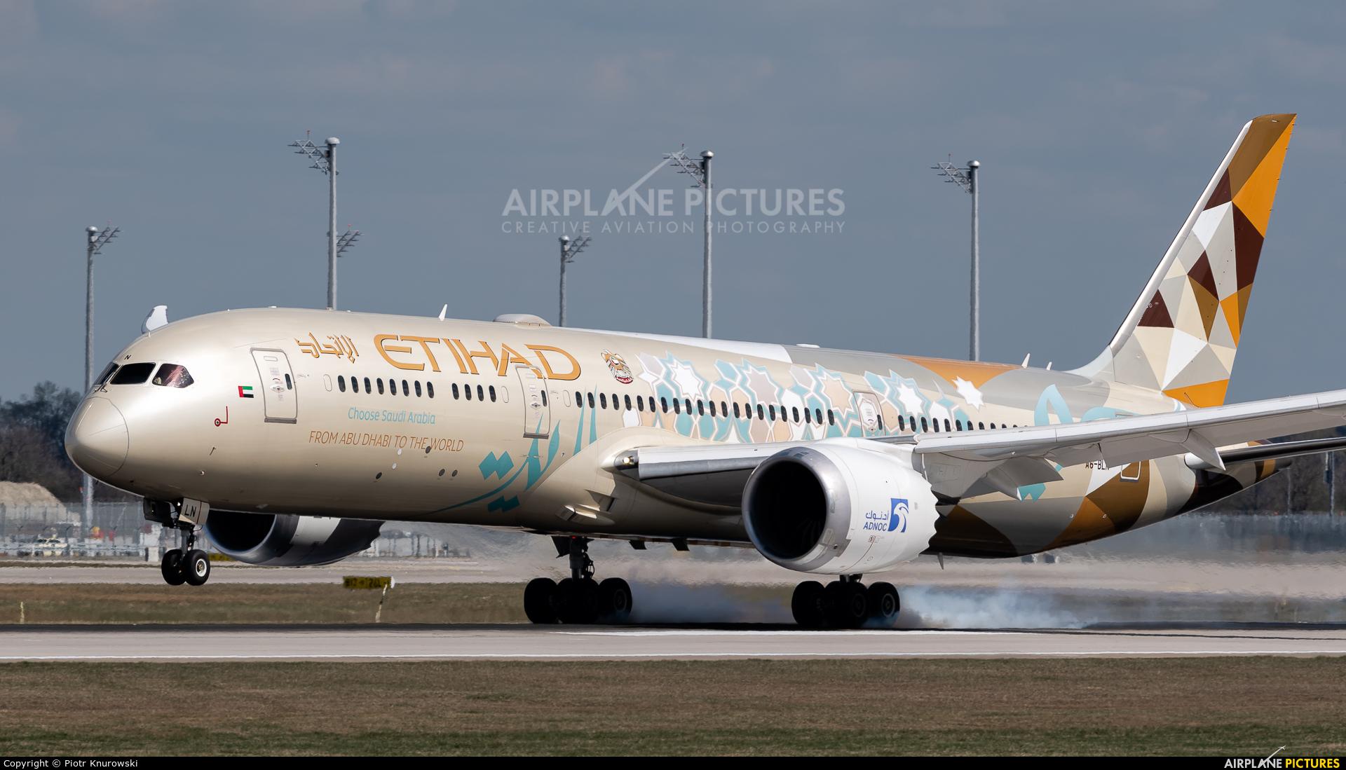 Etihad Airways A6-BLN aircraft at Munich