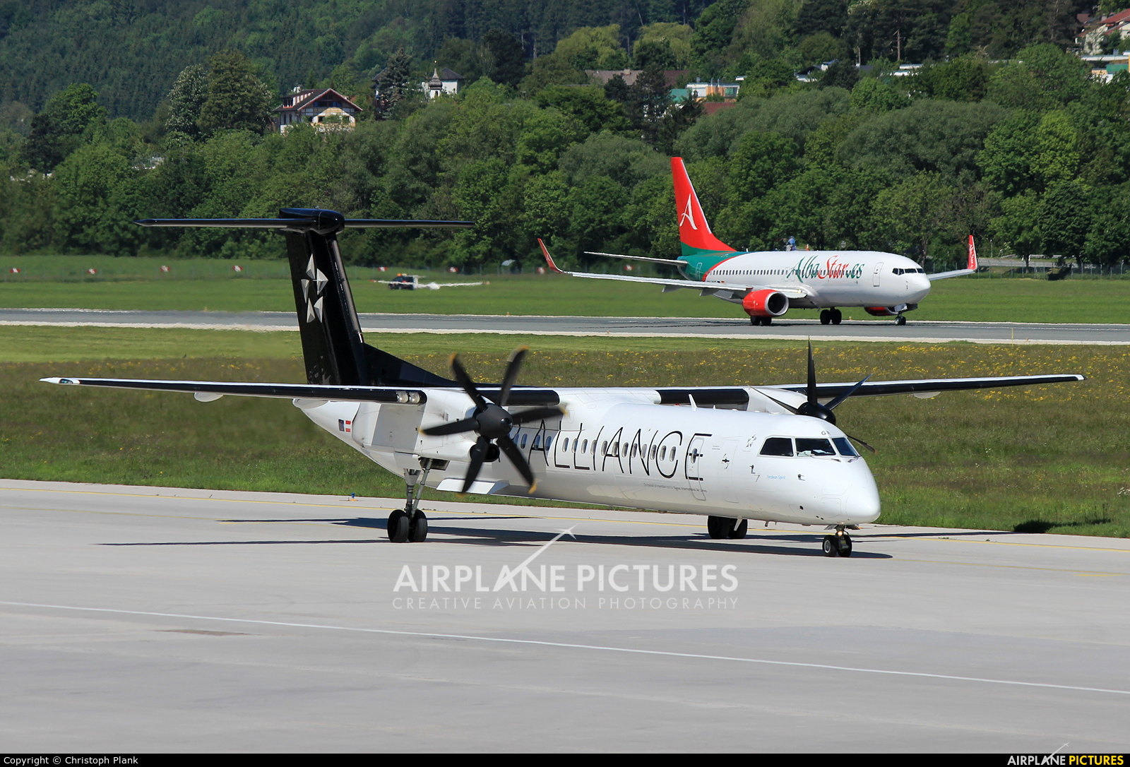 Austrian Airlines/Arrows/Tyrolean OE-LGR aircraft at Innsbruck