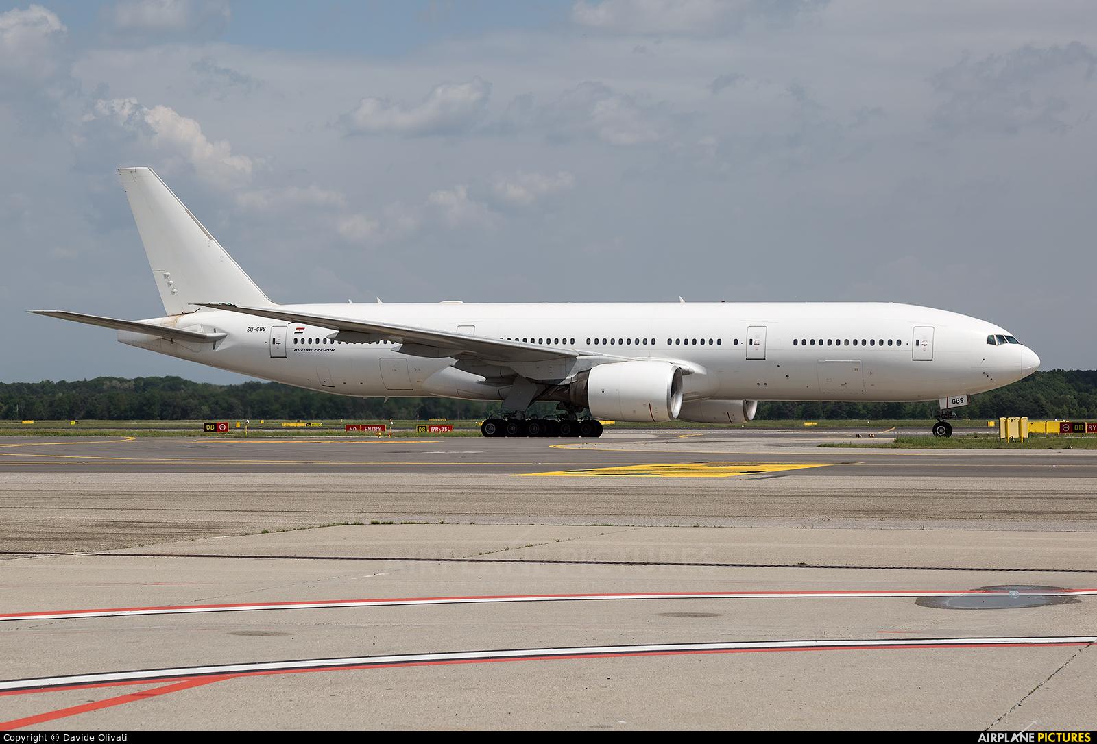 Egyptair SU-GBS aircraft at Milan - Malpensa
