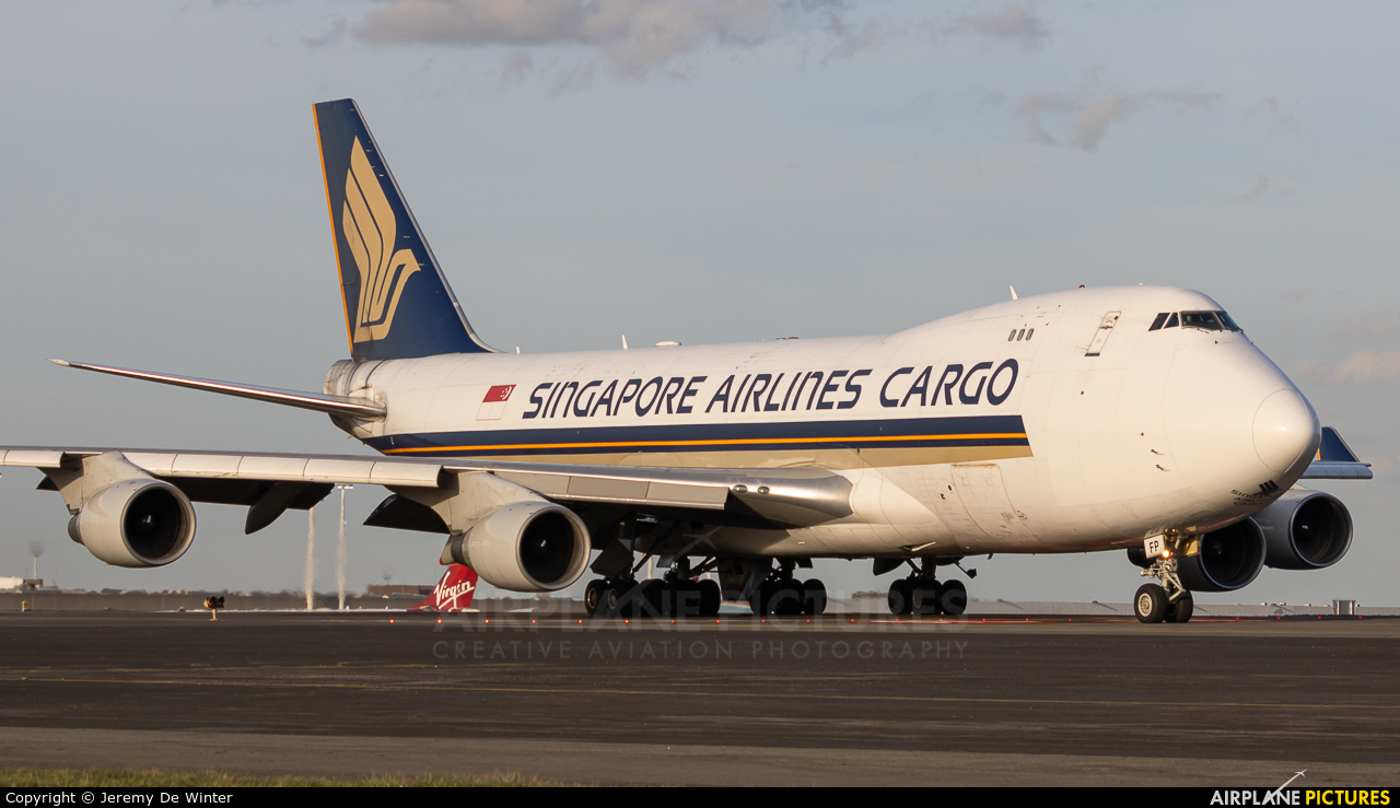 Singapore Airlines Cargo 9V-SFP aircraft at Brussels - Zaventem