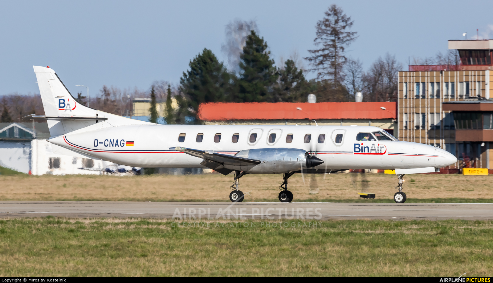 Bin Air D-CNAG aircraft at Ostrava Mošnov
