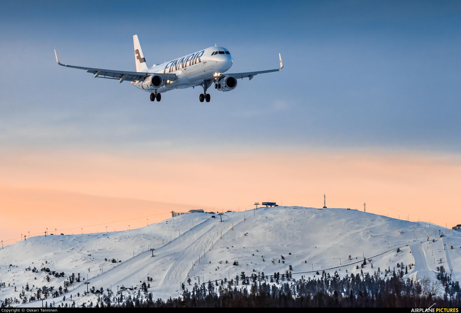 Finnair OH-LZT aircraft at Kittilä