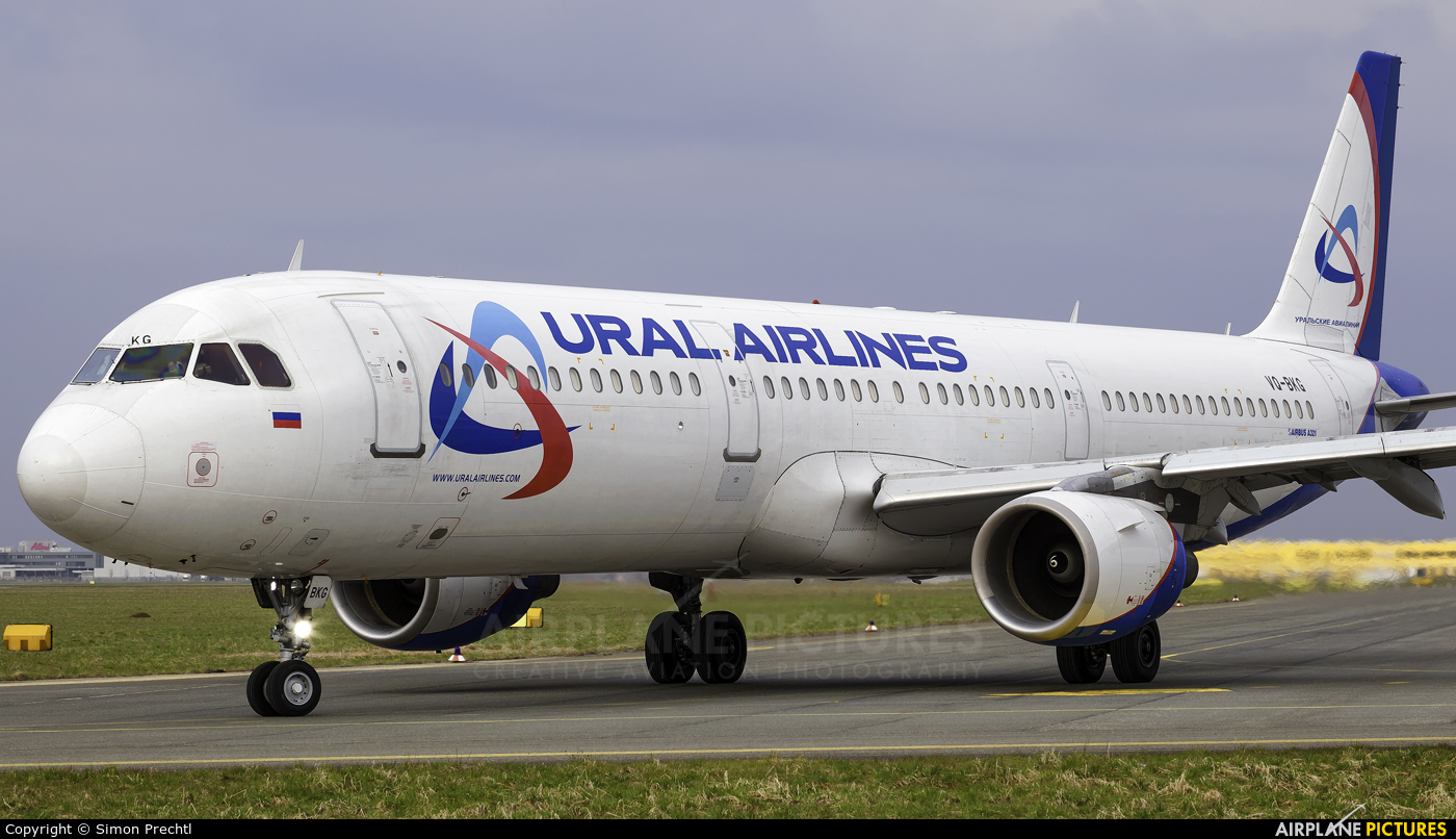 Ural Airlines VQ-BKG aircraft at Linz