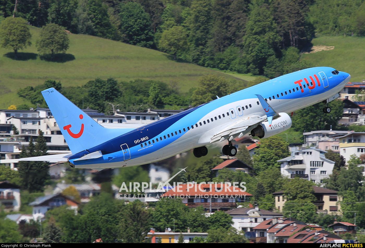 TUI Airlines Belgium OO-SRO aircraft at Innsbruck
