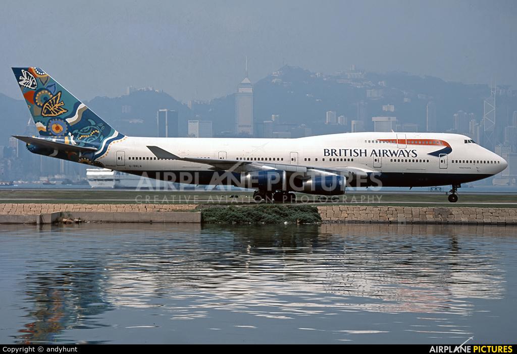British Airways G-BNLN aircraft at HKG - Kai Tak Intl CLOSED