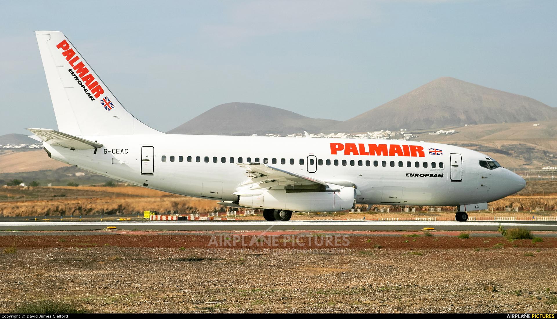 Palmair G-CEAC aircraft at Lanzarote - Arrecife