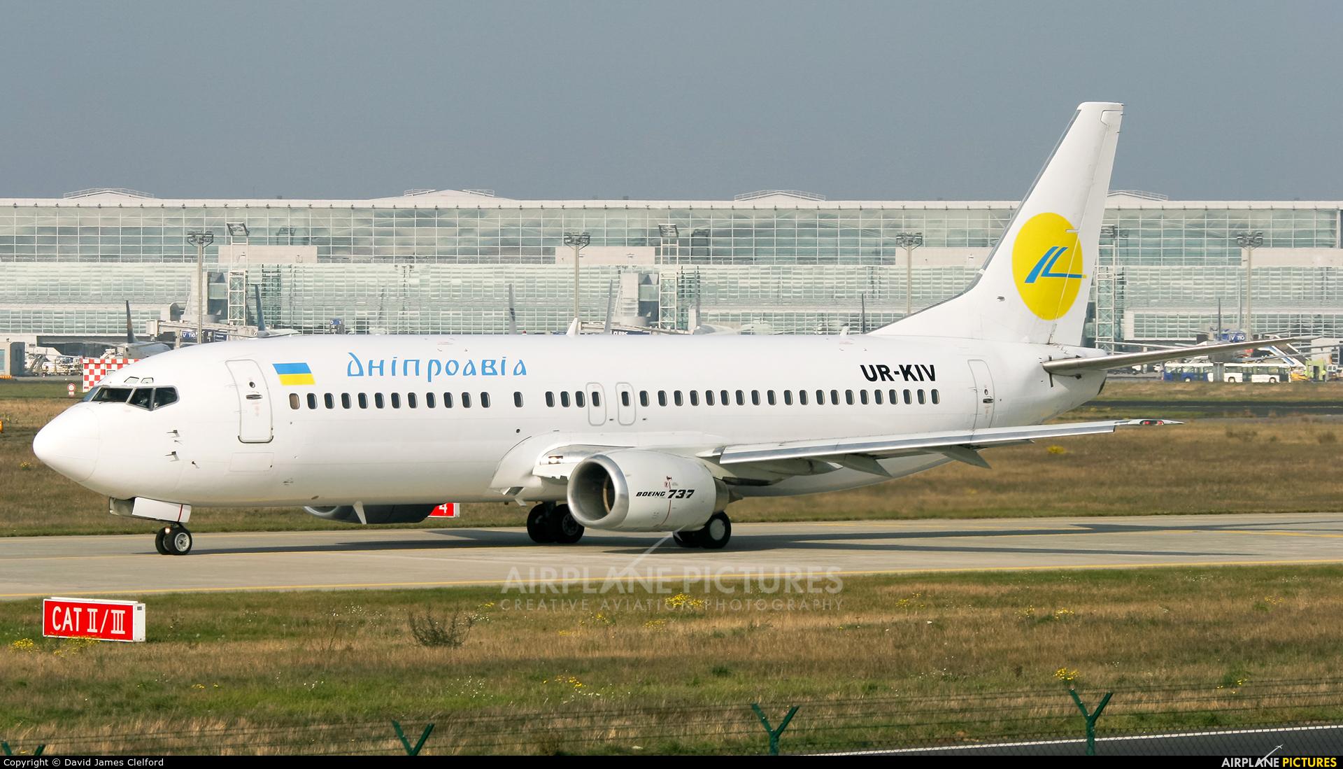 Dniproavia UR-KIV aircraft at Frankfurt