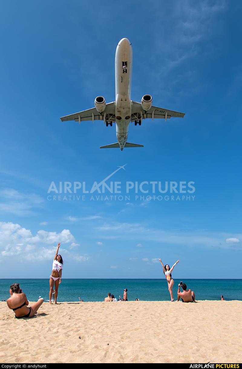 Myanmar Airways International XY-AGQ aircraft at Phuket
