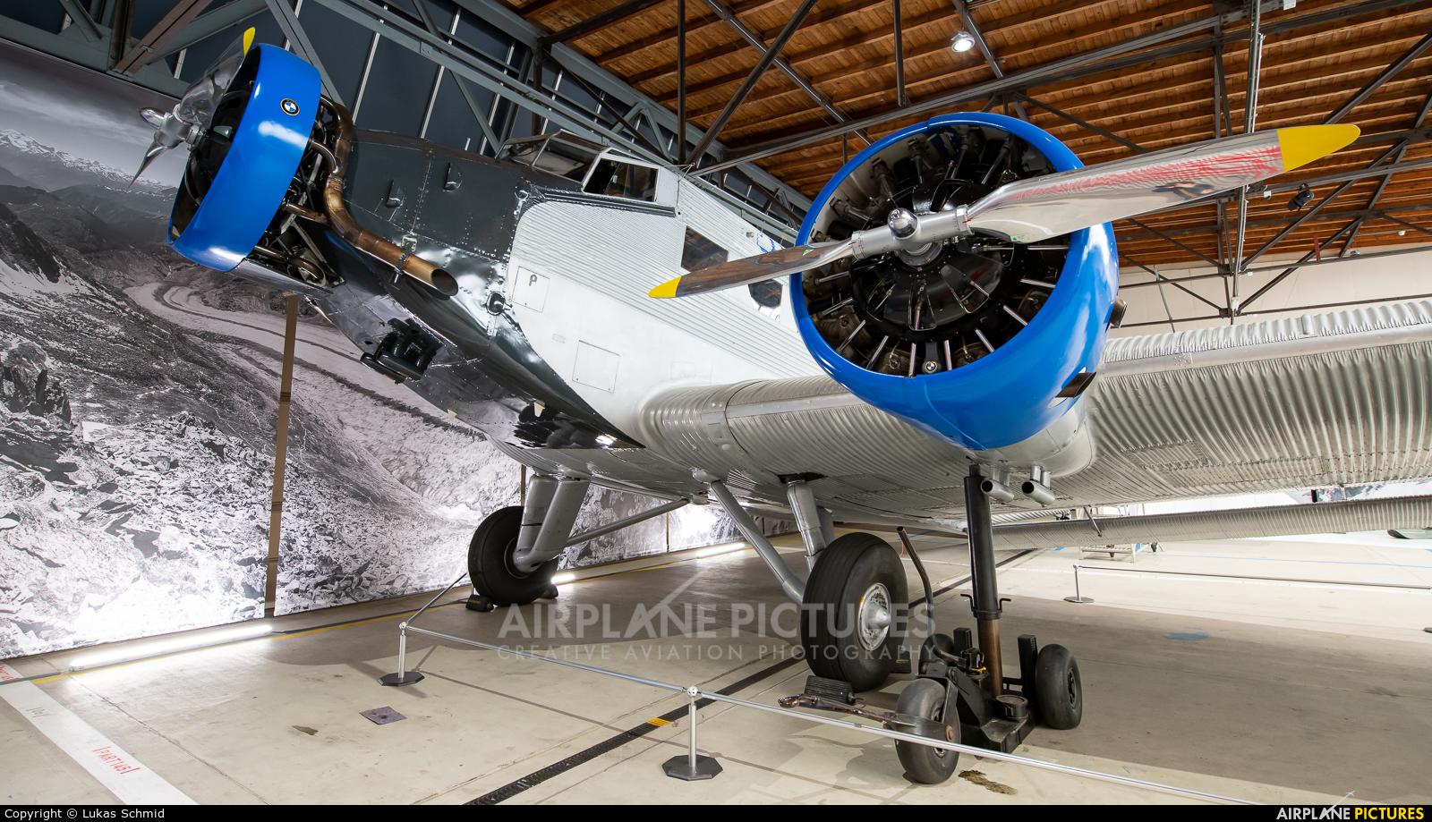 Ju-Air HB-HOP aircraft at Dübendorf Fliegermuseum