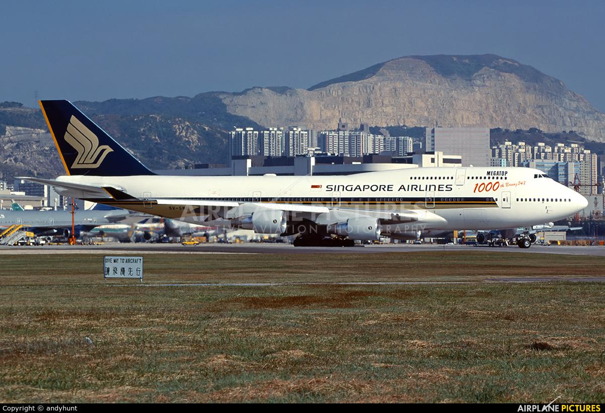 Singapore Airlines 9V-SMU aircraft at HKG - Kai Tak Intl CLOSED