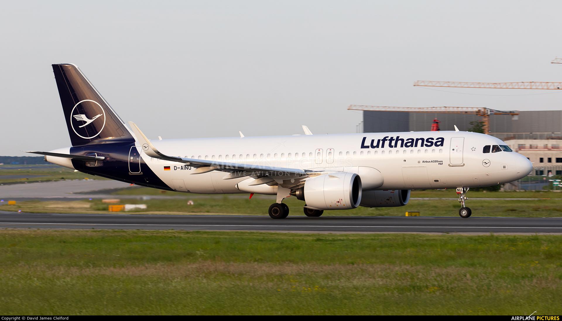 Lufthansa D-AINU aircraft at Frankfurt