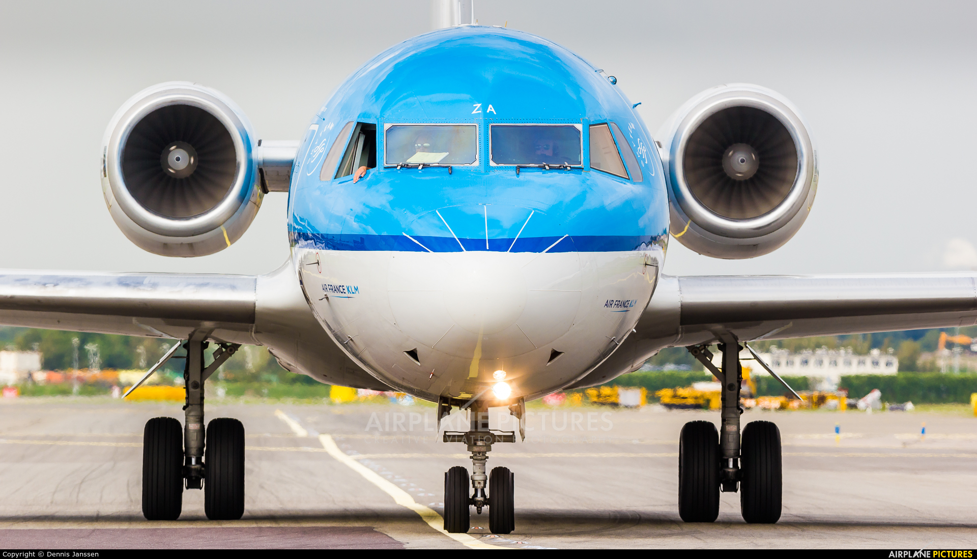 KLM Cityhopper PH-KZA aircraft at Amsterdam - Schiphol