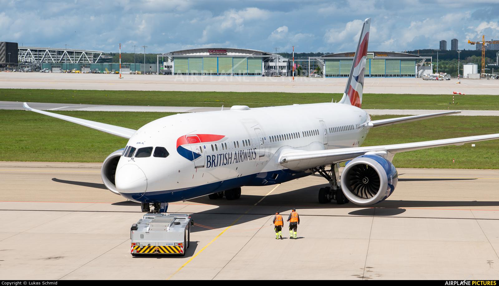 British Airways G-ZBKA aircraft at Stuttgart