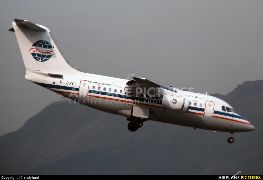 China Northwest Airlines B-2701 aircraft at HKG - Kai Tak Intl CLOSED