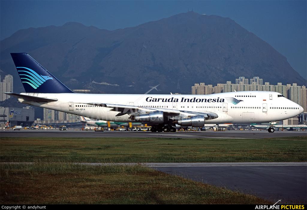 Garuda Indonesia PK-GSA aircraft at HKG - Kai Tak Intl CLOSED