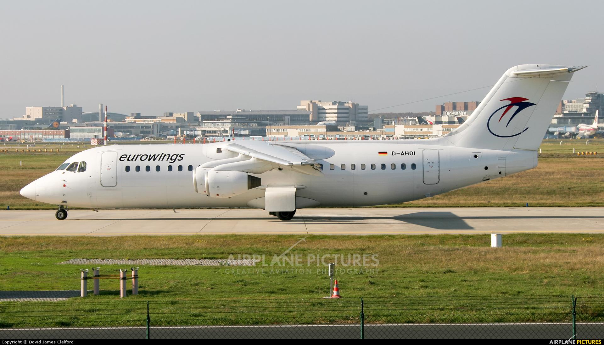 Eurowings D-AHOI aircraft at Frankfurt