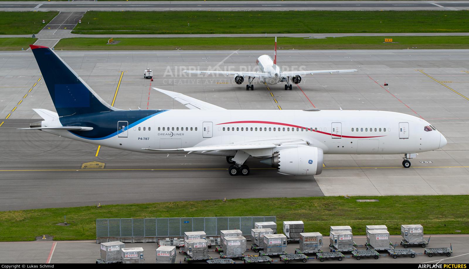 Comlux Aviation P4-787 aircraft at Zurich