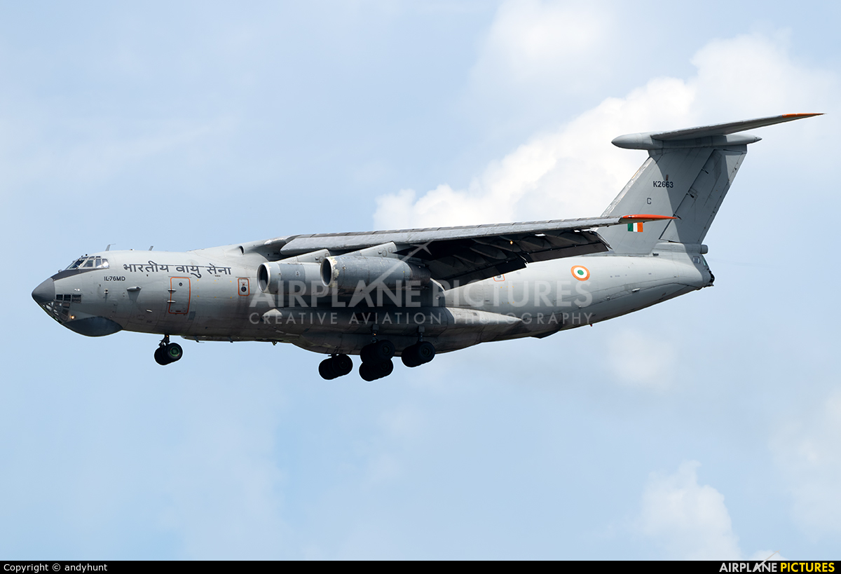 India - Air Force K2663 aircraft at Singapore - Changi