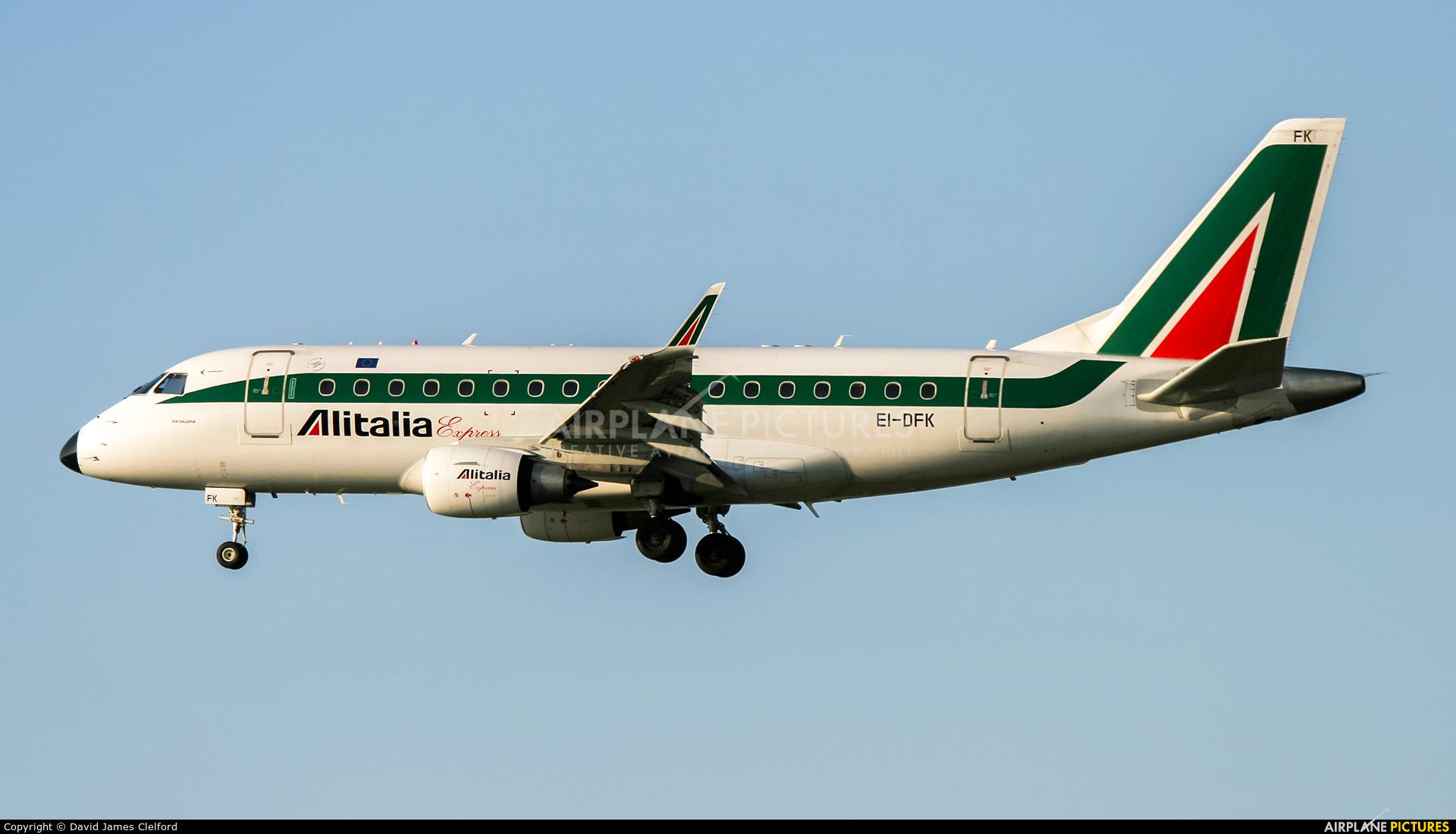 Alitalia Express EI-DFK aircraft at Frankfurt
