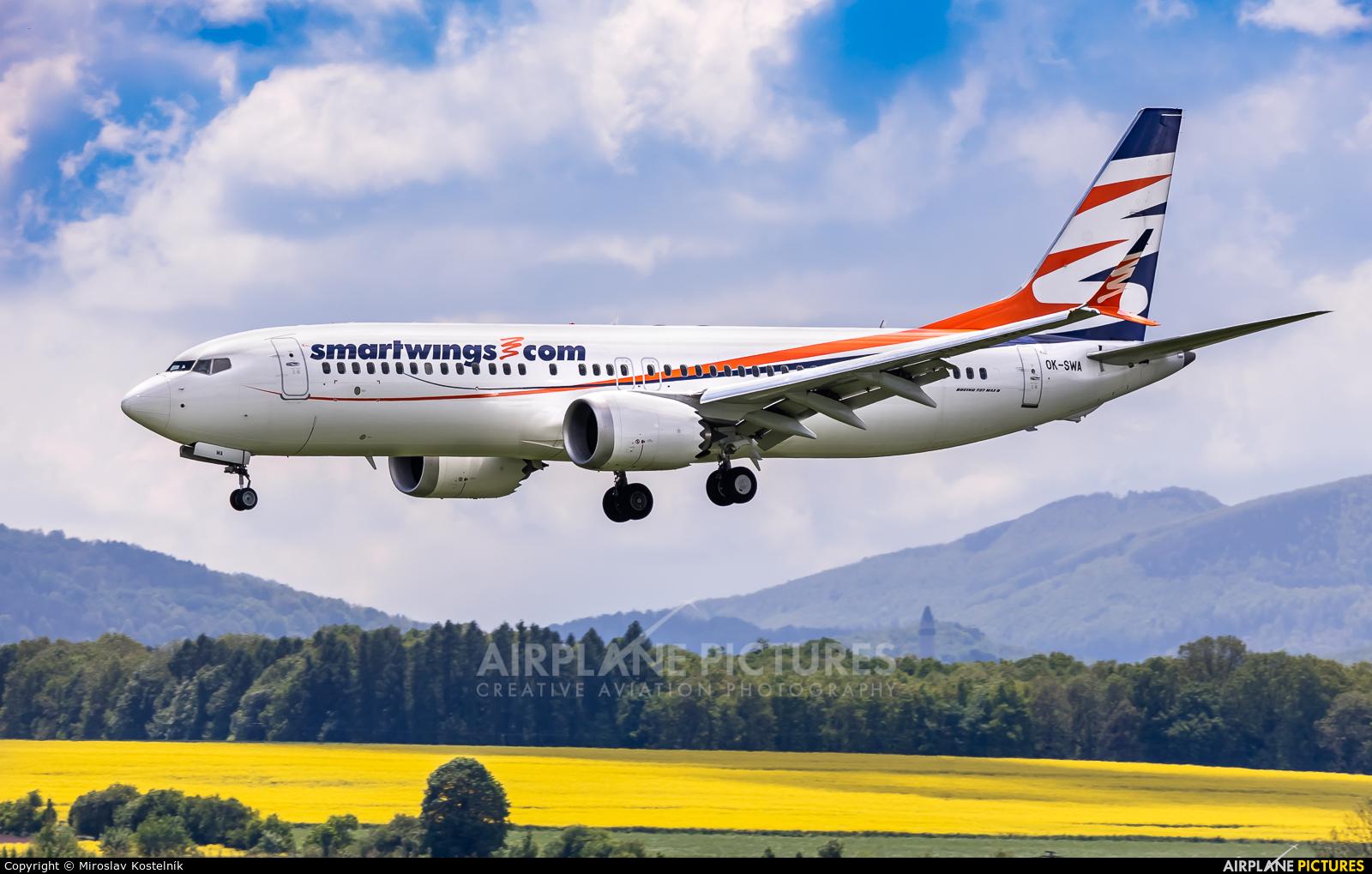 SmartWings OK-SWA aircraft at Ostrava Mošnov