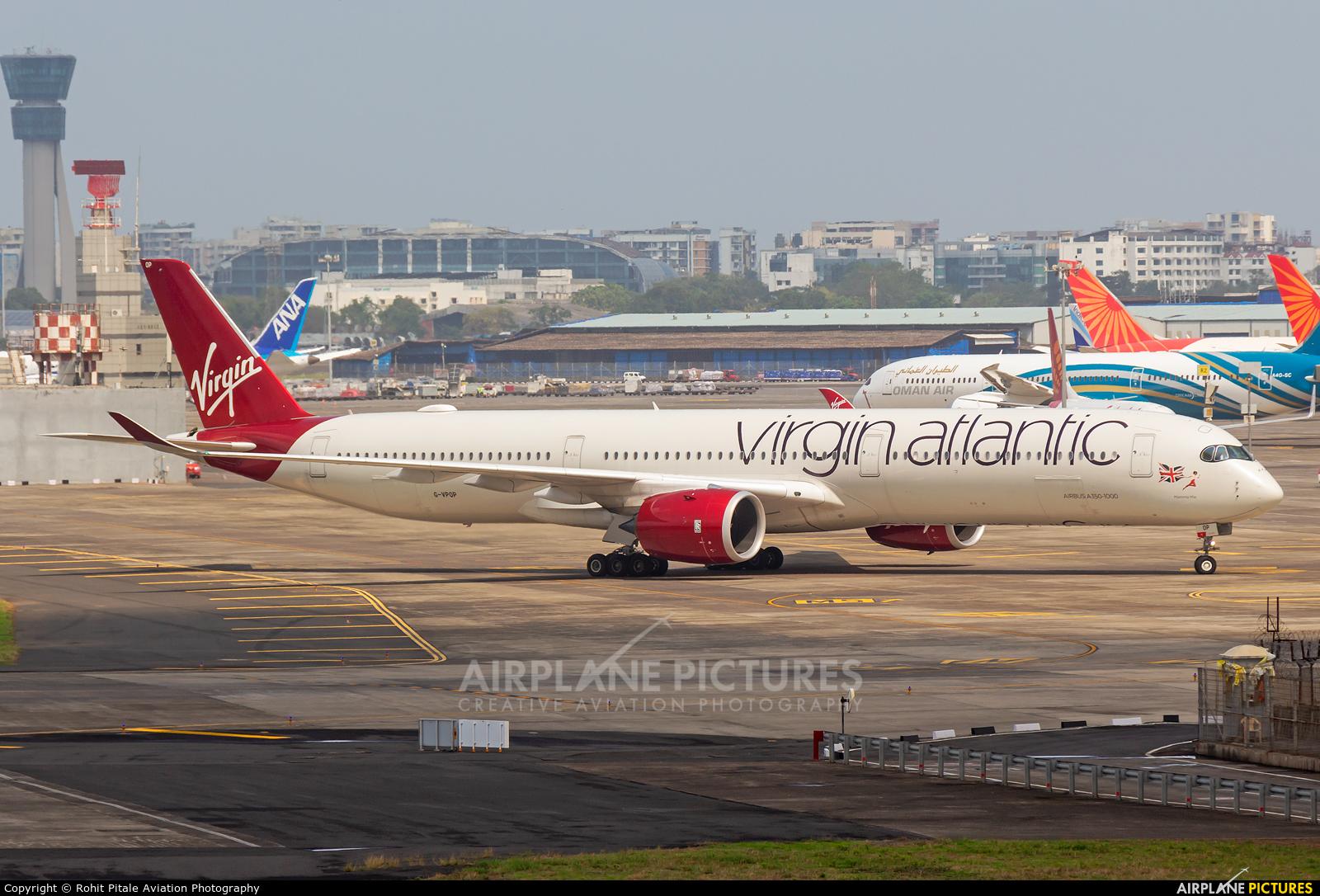 Virgin Atlantic G-VPOP aircraft at Mumbai - Chhatrapati Shivaji Intl