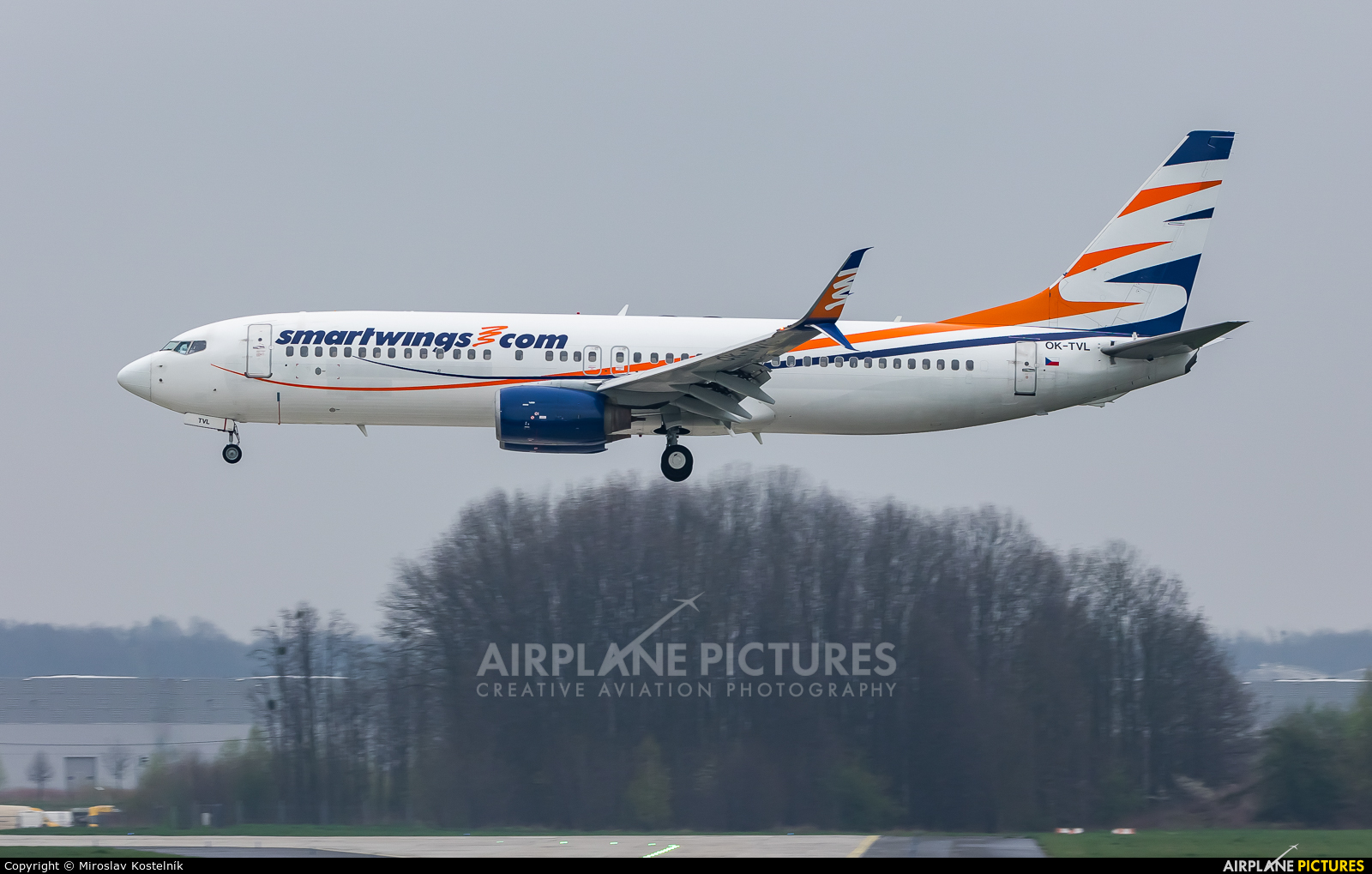 SmartWings OK-TVL aircraft at Ostrava Mošnov