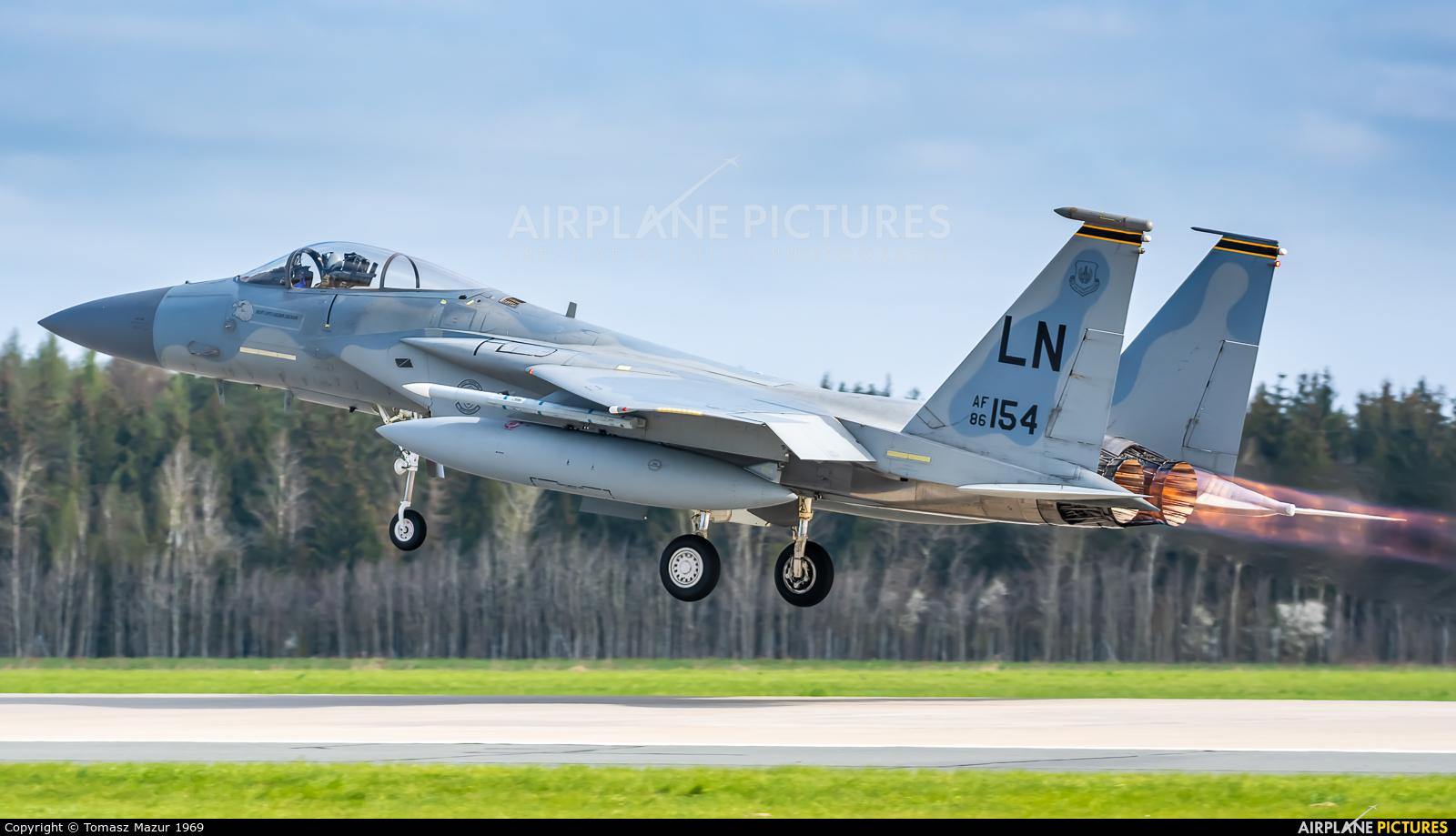 USA - Air Force 86-0154 aircraft at Poznań - Krzesiny