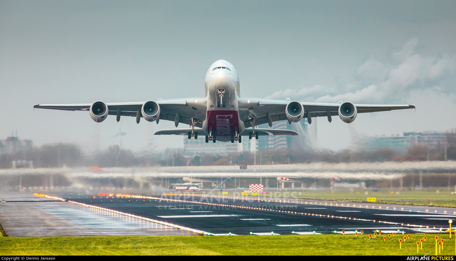Emirates Airlines A6-EOV aircraft at Amsterdam - Schiphol