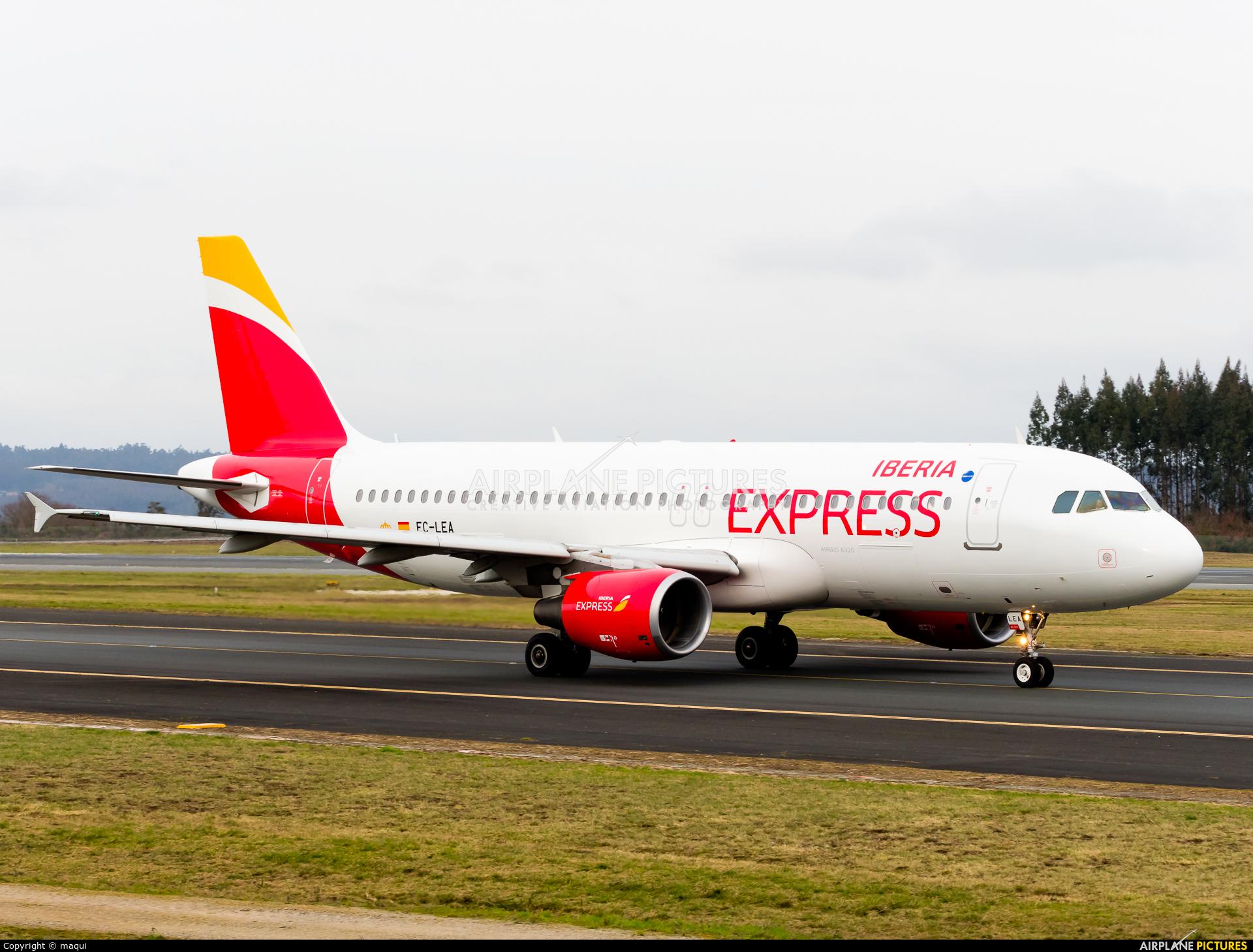 Iberia Express EC-LEA aircraft at Santiago de Compostela