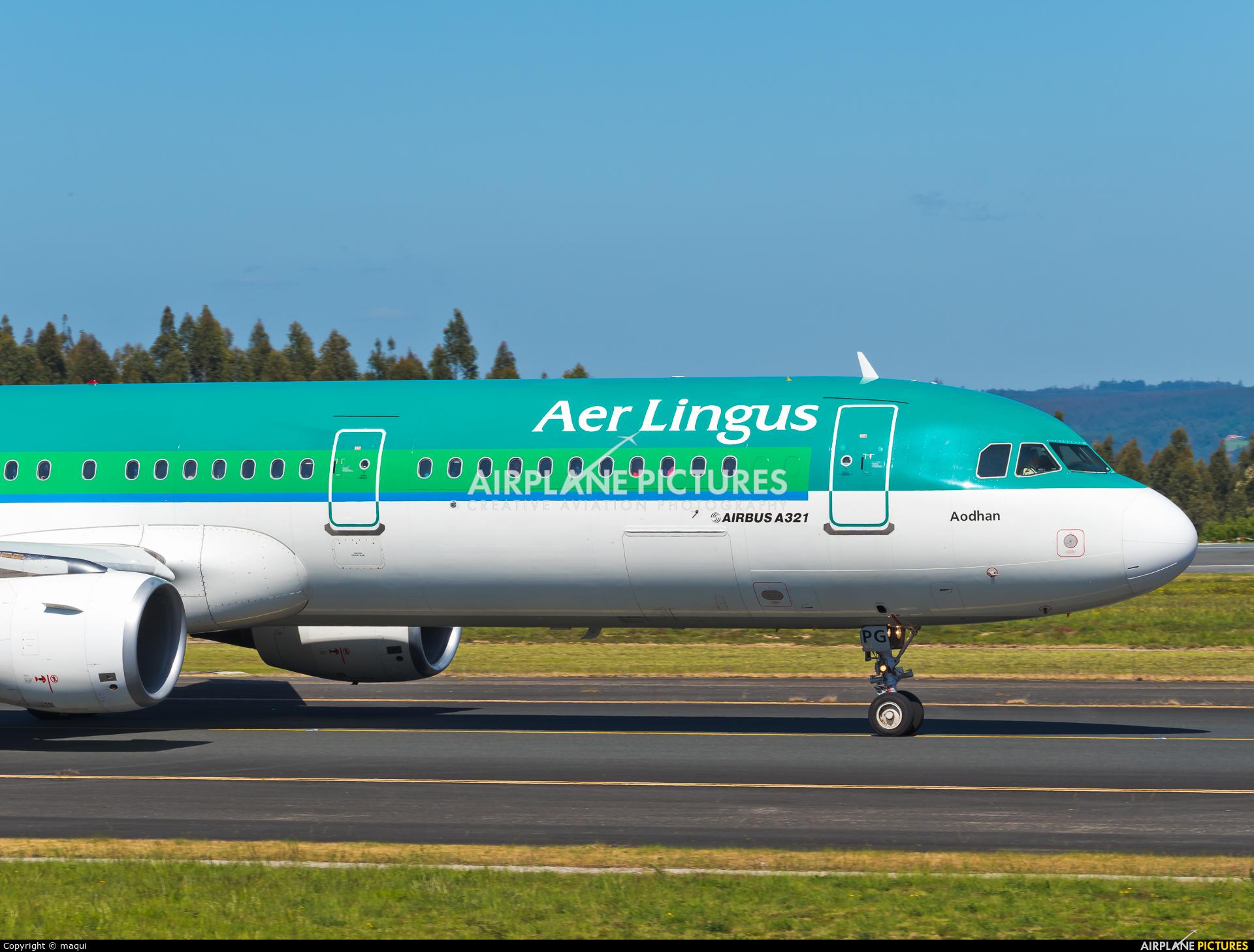 Aer Lingus EI-CPG aircraft at Santiago de Compostela