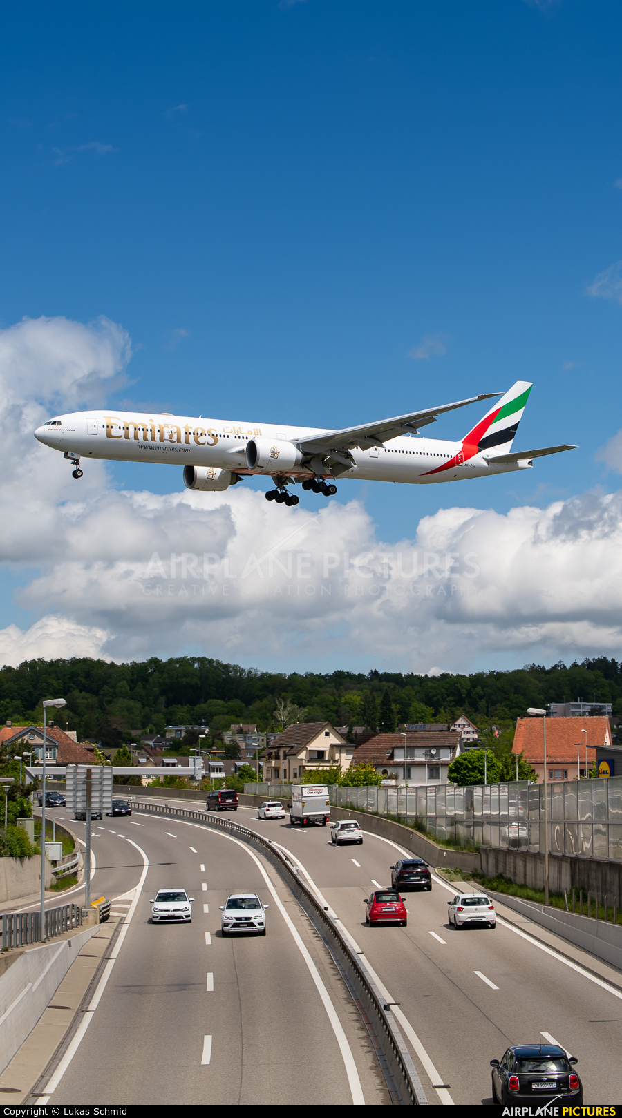 Emirates Airlines A6-EQL aircraft at Zurich