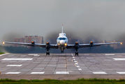 Rare visit of Russian Navy Il-20RT at Moscow - Ostafyevo title=