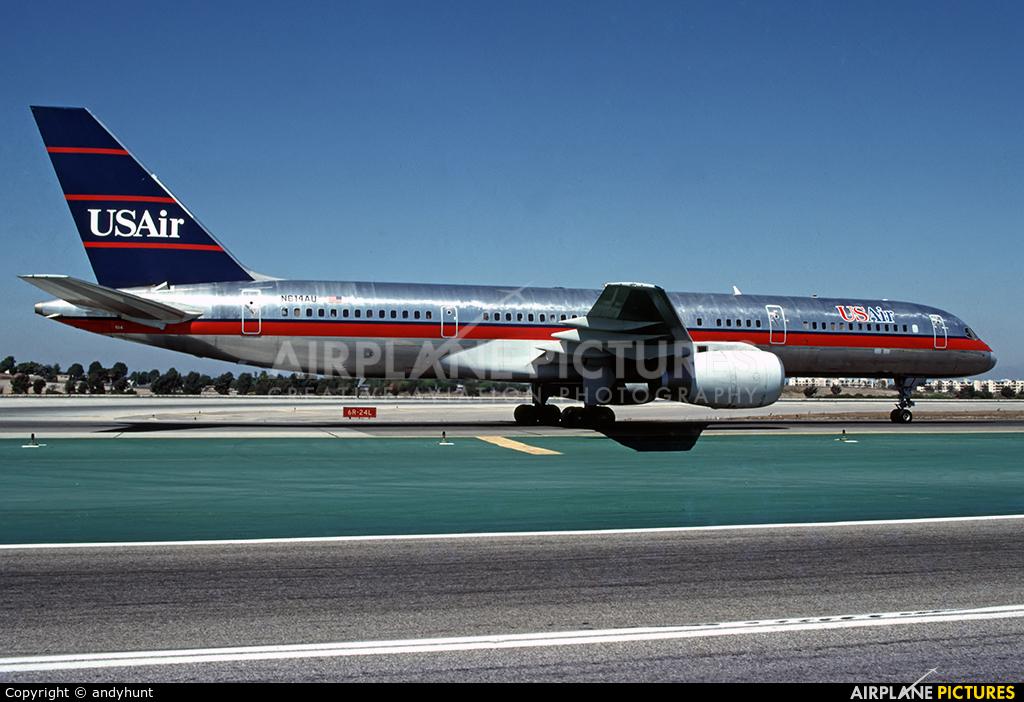 US Air N614AU aircraft at Los Angeles Intl