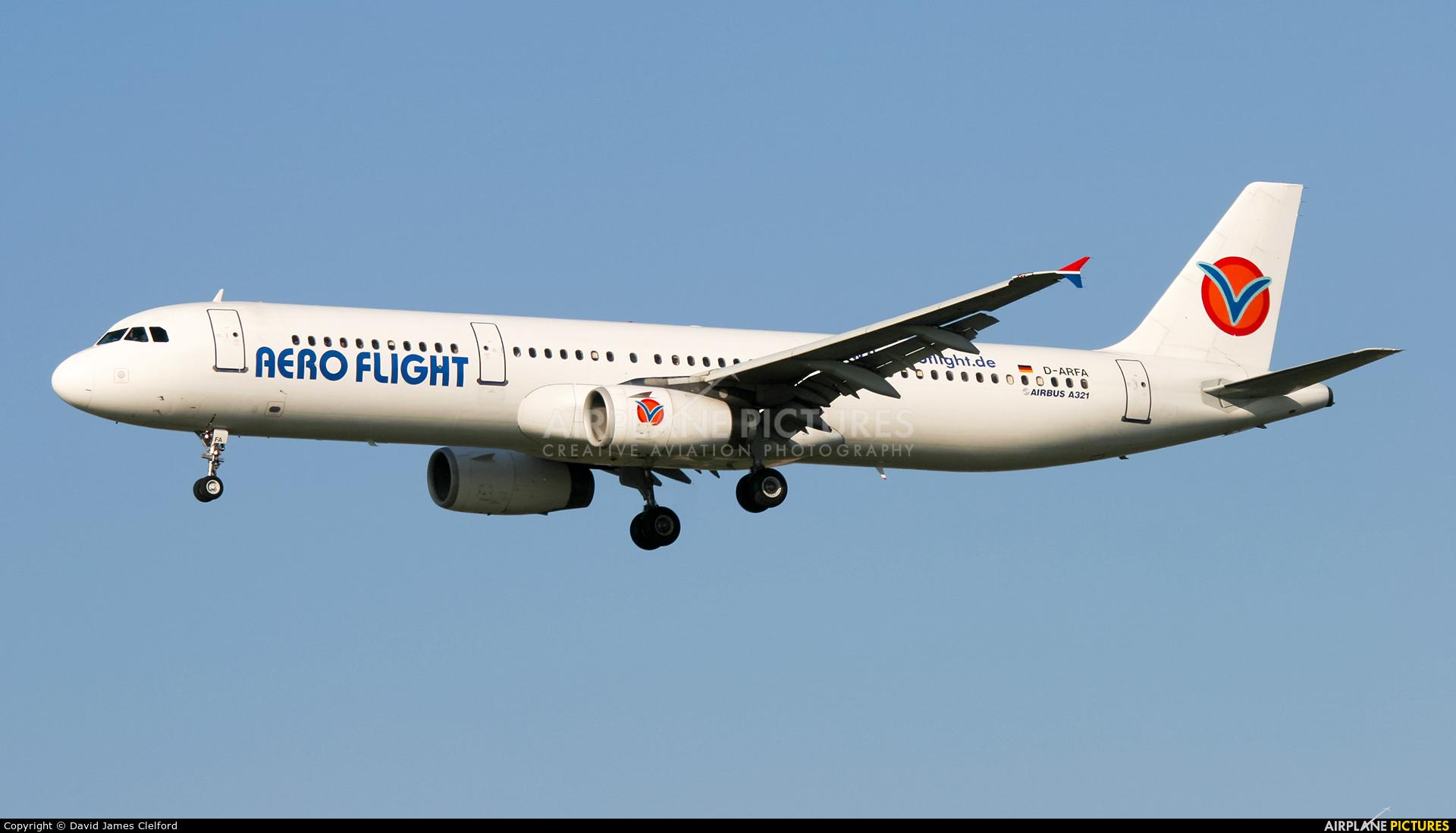 Aero Flight D-ARFA aircraft at Frankfurt