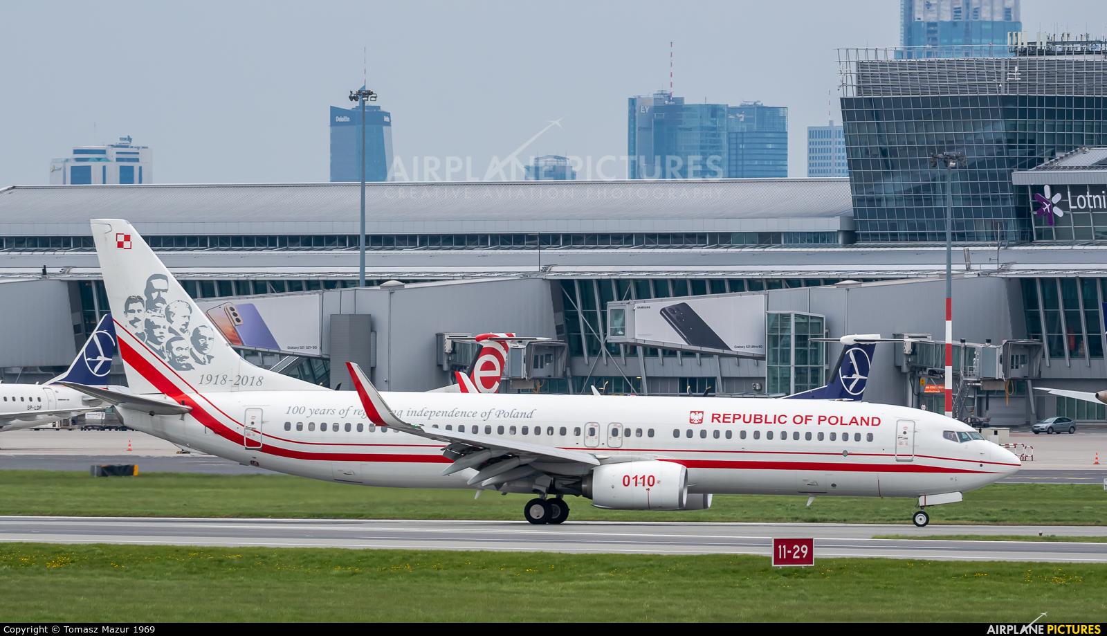 Poland - Air Force 0110 aircraft at Warsaw - Frederic Chopin