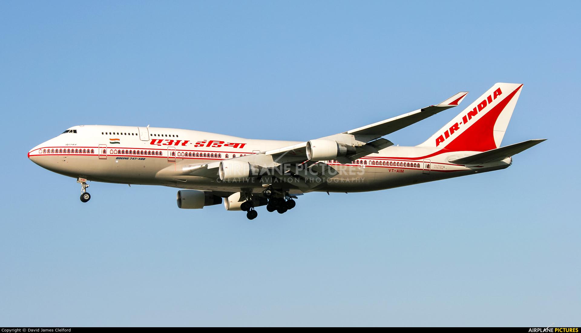 Air India VT-AIM aircraft at Frankfurt