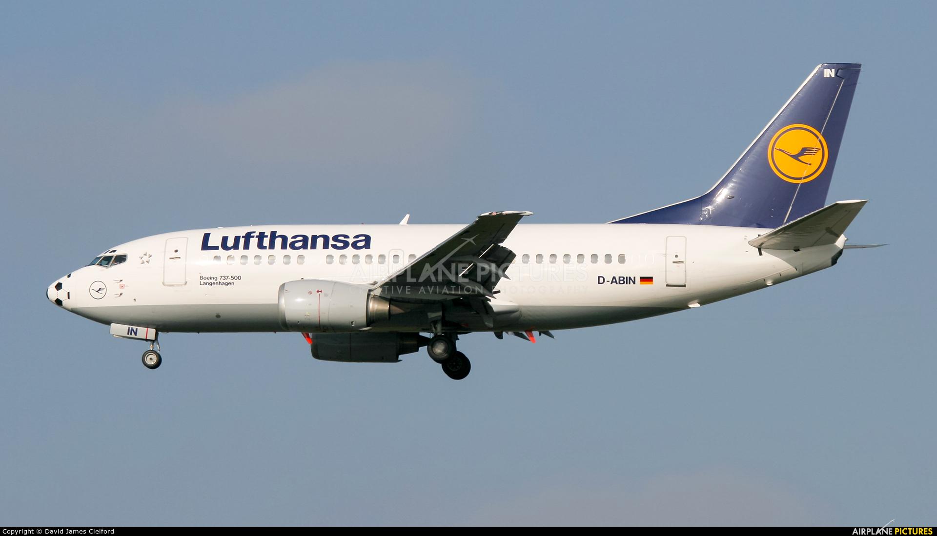 Lufthansa D-ABIN aircraft at Frankfurt