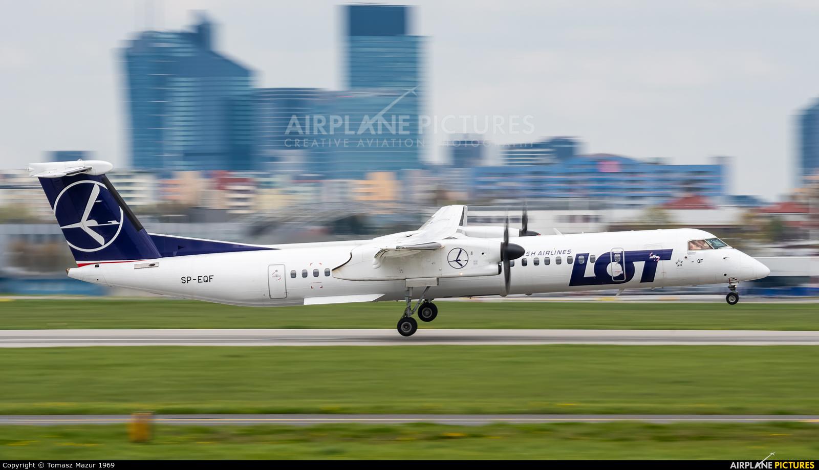 LOT - Polish Airlines SP-EQF aircraft at Warsaw - Frederic Chopin