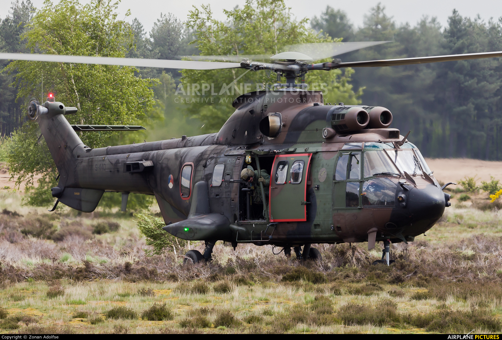 Netherlands - Air Force S-440 aircraft at GLV-5 Training area