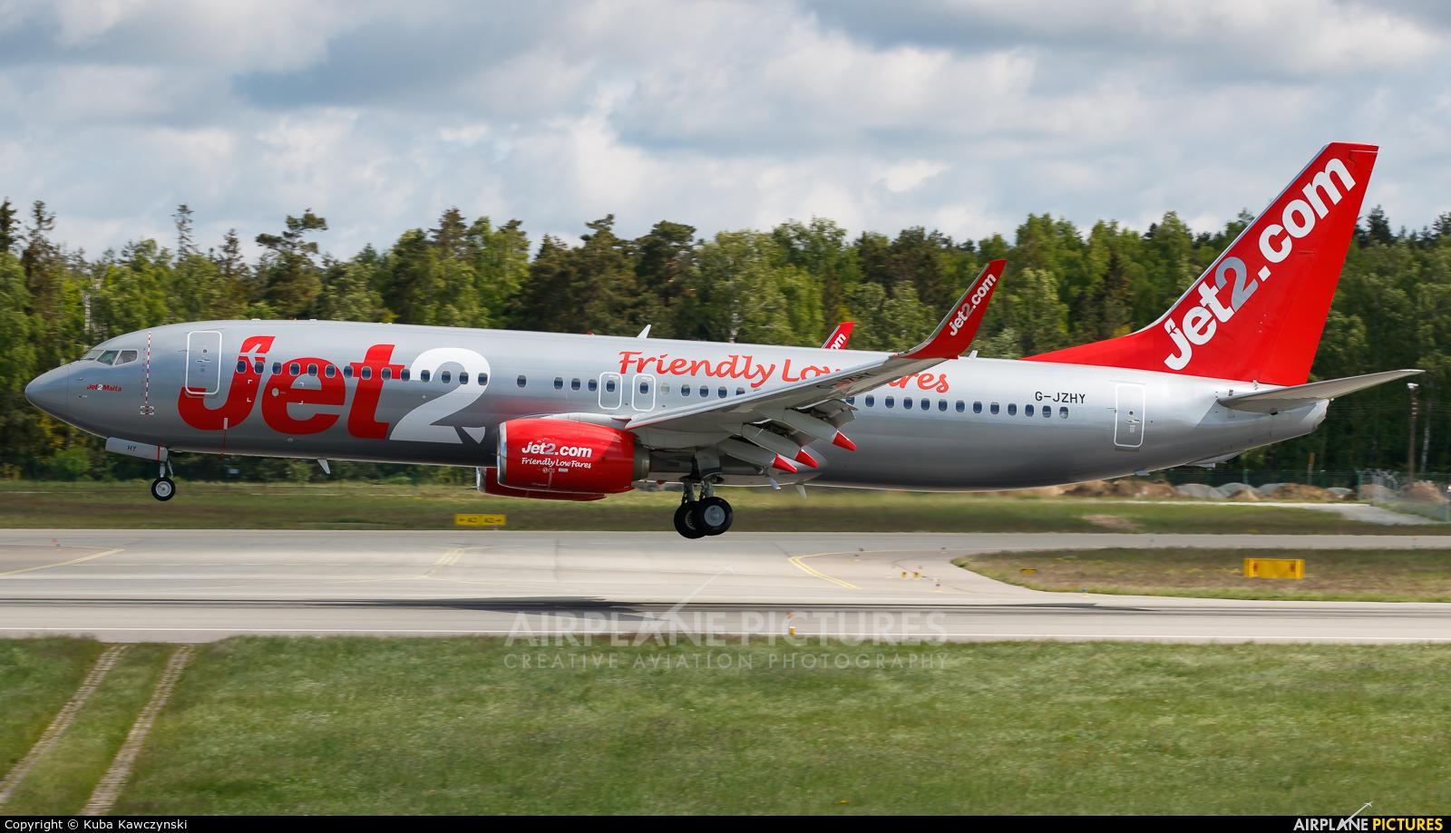 Jet2 G-JZHY aircraft at Gdańsk - Lech Wałęsa