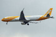 Delivery flight of the first A321NEO for Scoot title=