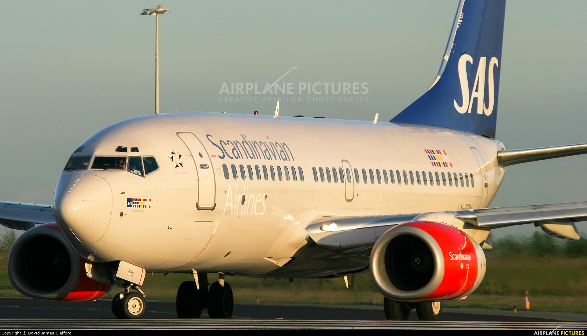 SAS - Scandinavian Airlines LN-RNN aircraft at Amsterdam - Schiphol