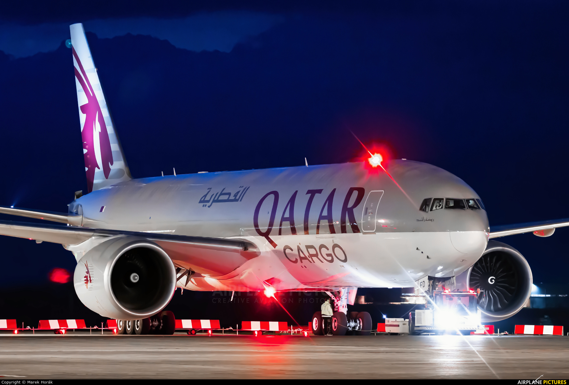 Qatar Airways Cargo A7-BFD aircraft at Prague - Václav Havel