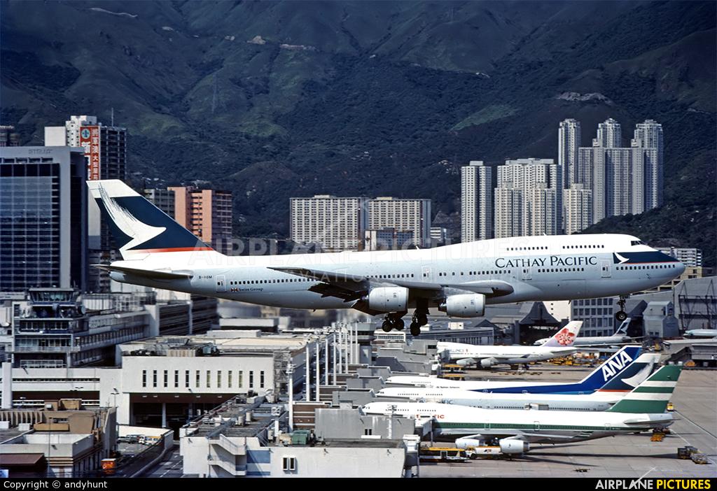 Cathay Pacific B-HOM aircraft at HKG - Kai Tak Intl CLOSED
