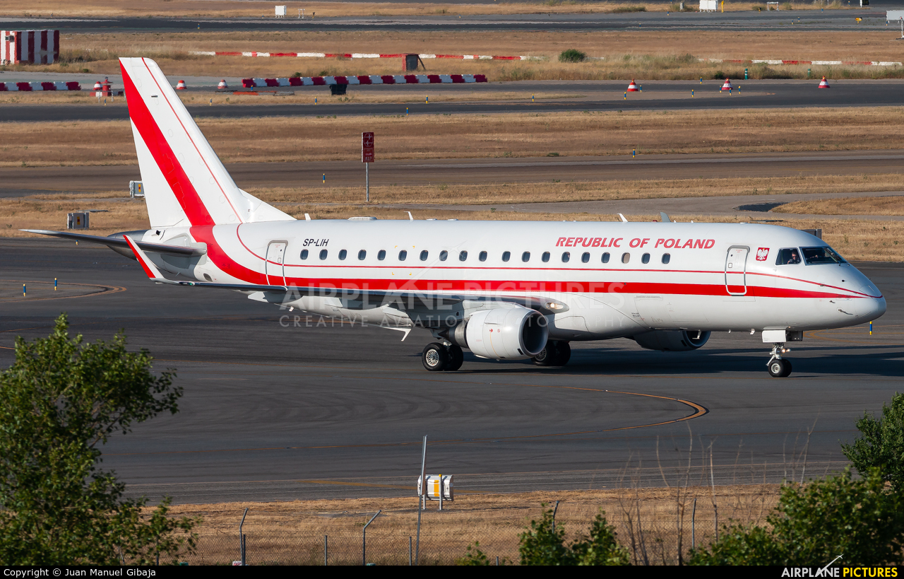 Poland - Government SP-LIH aircraft at Madrid - Barajas