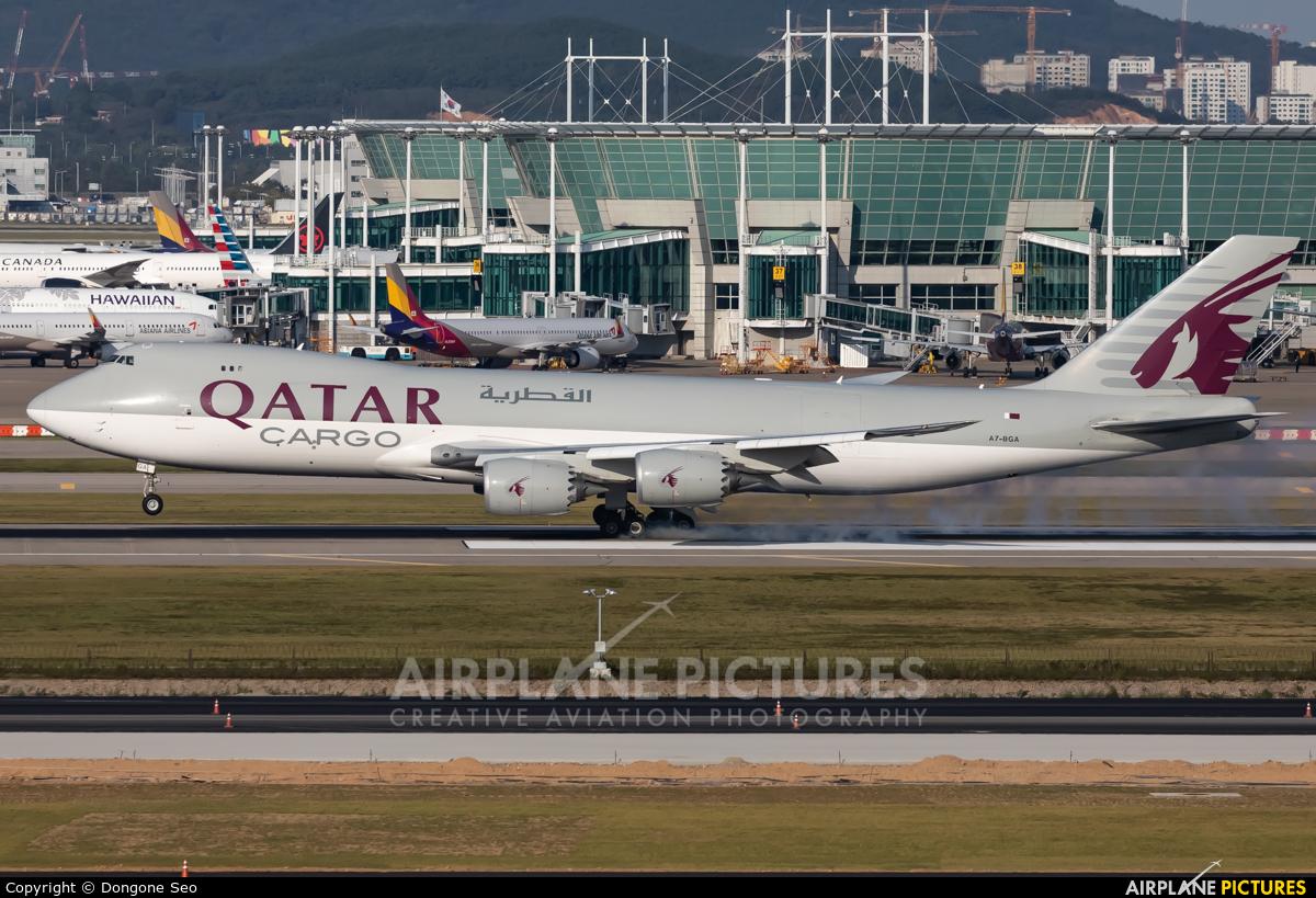 Qatar Airways Cargo A7-BGA aircraft at Seoul - Incheon
