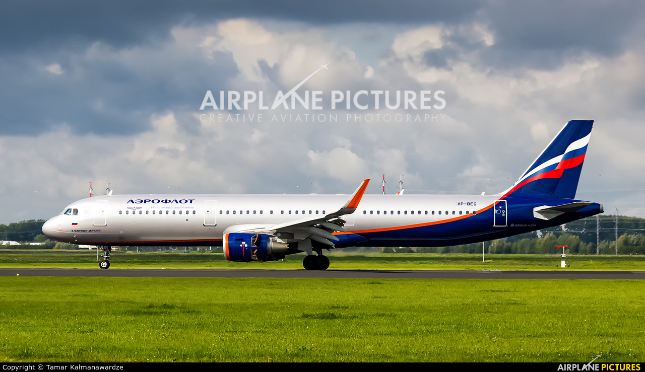 Aeroflot VP-BEG aircraft at Amsterdam - Schiphol