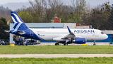 Aegean Airlines Airbus A320 SX-DND at Ostrava Mošnov airport