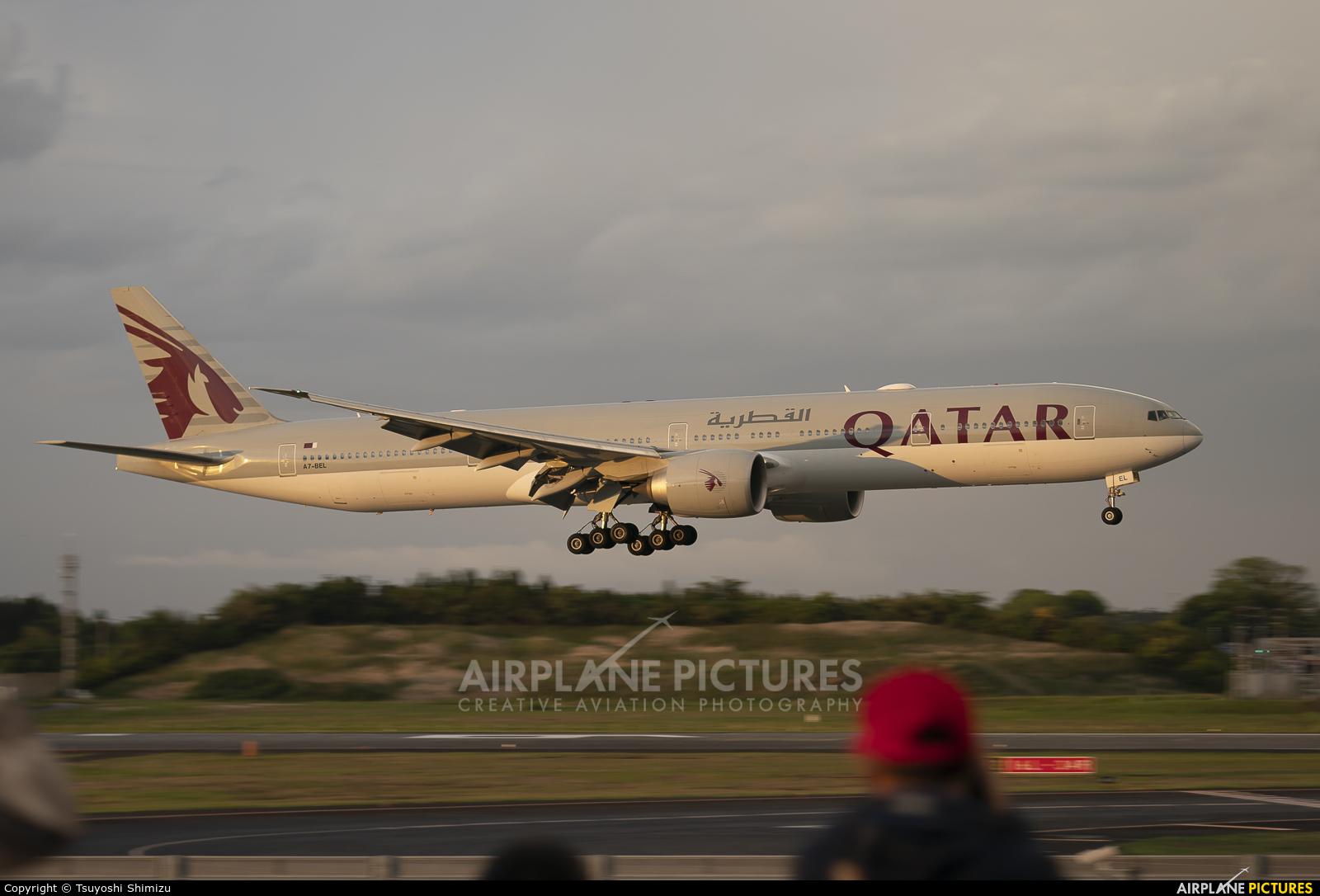Qatar Airways A7-BEL aircraft at Tokyo - Narita Intl